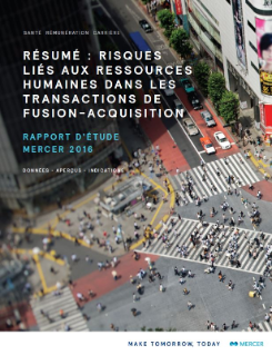 Risques RH transactions fusion-acquisition